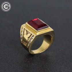 Nhẫn Vàng Thể Thao Đính Đá 24k