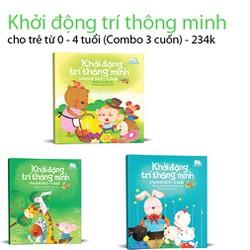 Khởi động trí thông minh cho trẻ từ 0-6 tuổi - Combo 3 cuốn - 234k