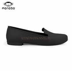 Giày búp bê nhựa dẻo giày đi mưa mũi nhọn có gót cực êm không đau