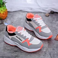 Giày Sneaker Fashion Giá Rẻ Màu Cam Cực Cá Tính