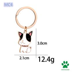 【MC4】Chó Bulldog -Móc khóa-Dễ thương-học sinh-gây sốt mạng-Nhật Bản