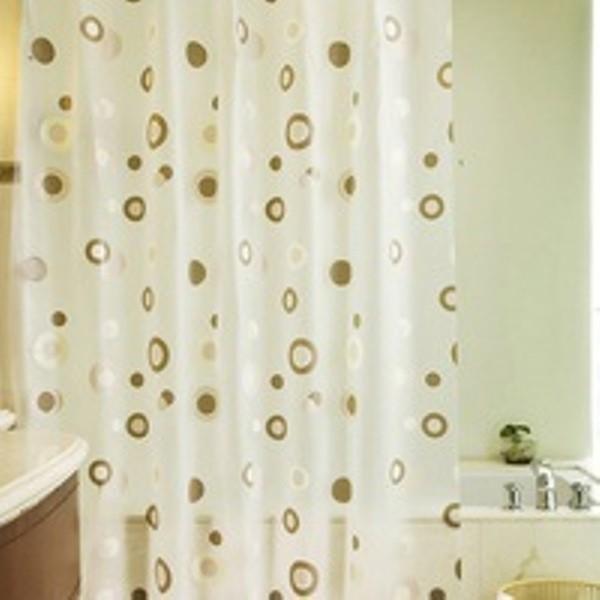 Rèm cửa nhà Tắm decor cá tính không thấm nước - Vòng tròn cafe 5