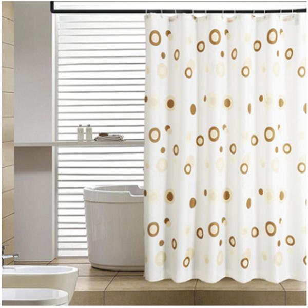 Rèm cửa nhà Tắm decor cá tính không thấm nước - Vòng tròn cafe 3