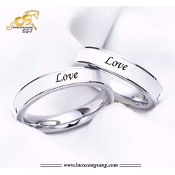 Nhẫn cặp inox chữ love - bền đẹp chất lượng giá rẻ