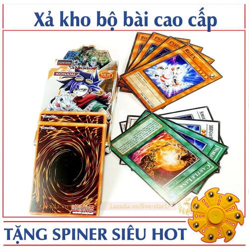 Bộ thẻ bài Magic YuGiOh 25 lá + Tặng con quay cao cấp Spiner