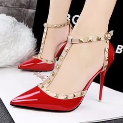 Giày cao gót Louboutin đinh tán cao cấp