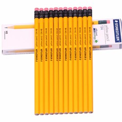Hộp 12 cái bút chì 2B Steadler 134 Thân vàng