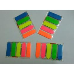 4 Tập Note nhựa mũi tên 5 màu_giá 6.800đ 1tap