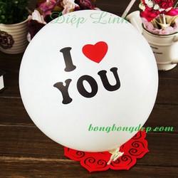 Bóng love trắng trang trí ngày tình nhân Valentine