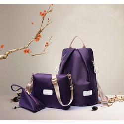Bộ 3 túi balo, túi đeo chéo, túi nhỏ đựng mỹ phẩm rẻ đẹp, sành điệu