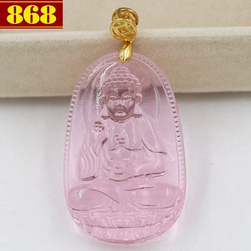 Mặt dây chuyền Phật A Di Đà pha lê hồng 5cm - 5700916 , 9643521 , 15_9643521 , 140000 , Mat-day-chuyen-Phat-A-Di-Da-pha-le-hong-5cm-15_9643521 , sendo.vn , Mặt dây chuyền Phật A Di Đà pha lê hồng 5cm