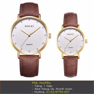 Đồng hồ cặp dây da Halei - 7083 thumbnail