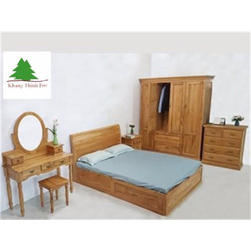 Giường gỗ sồi 1.6 m KT348
