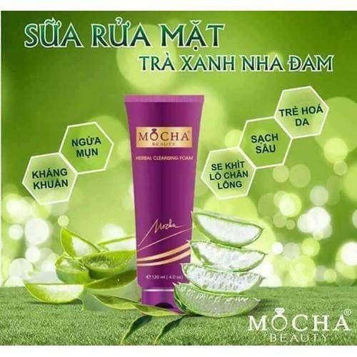 Sữa rửa mặt trị mụn tinh chất trà xanh MoCha