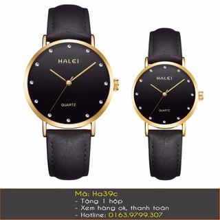 Đồng hồ cặp dây da Halei - 7084 thumbnail