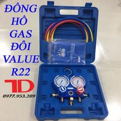 Đồng hồ đo áp suất gas máy lạnh VALUE R22