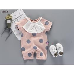 Set Body Chấm Bi Kèm Yếm Bèo Thời Trang – S185