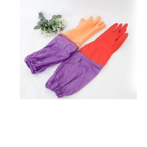 Com bo 02 Đôi găng tay cao su Lót Nỉ Có Cạp Chun