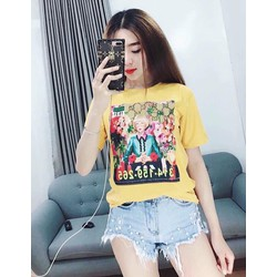 Áo T shirt in hoạ tiết