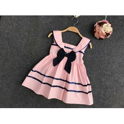 váy bé gái dáng thủy thủ chất thô boil
