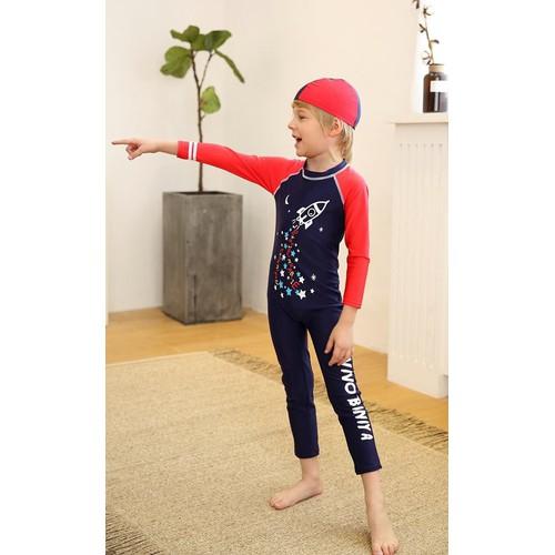 Đồ bơi liền thân chống nắng in tàu bay vũ trụ kèm nón cho bé trai - 5711260 , 9669005 , 15_9669005 , 285000 , Do-boi-lien-than-chong-nang-in-tau-bay-vu-tru-kem-non-cho-be-trai-15_9669005 , sendo.vn , Đồ bơi liền thân chống nắng in tàu bay vũ trụ kèm nón cho bé trai