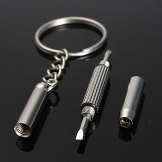 1 cái móc Khóa Tua Vít đa năng sửa chữa kính, đồng hồ, điện thoại - móc khóa tua vít thumbnail