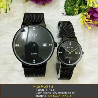 Đồng hồ đôi Halei dây lưới - 241 thumbnail