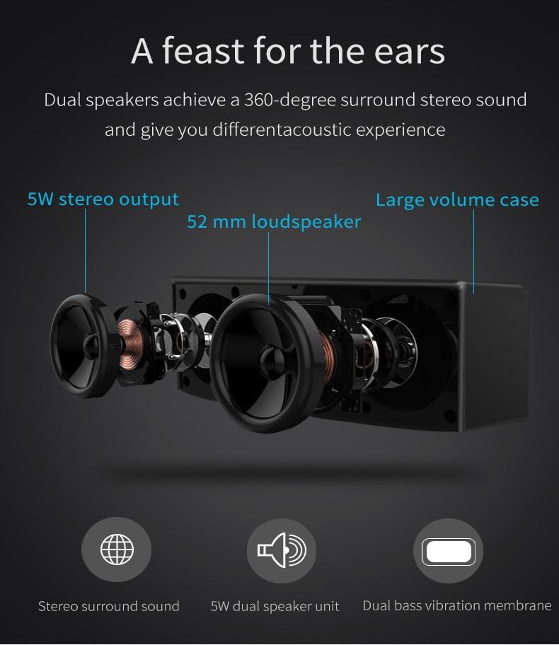 Loa Bluetooth Bass âm Thanh Sống Động chuẩn HIFI PKCB-5510 - PKCB-5510 7
