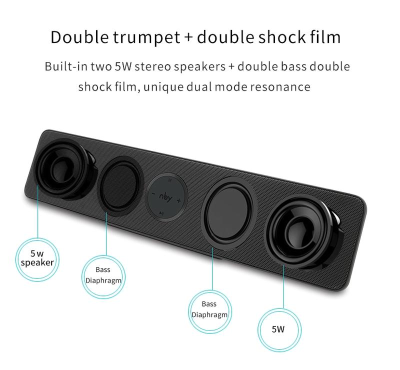 Loa Bluetooth Bass âm Thanh Sống Động chuẩn HIFI PKCB-5530 16
