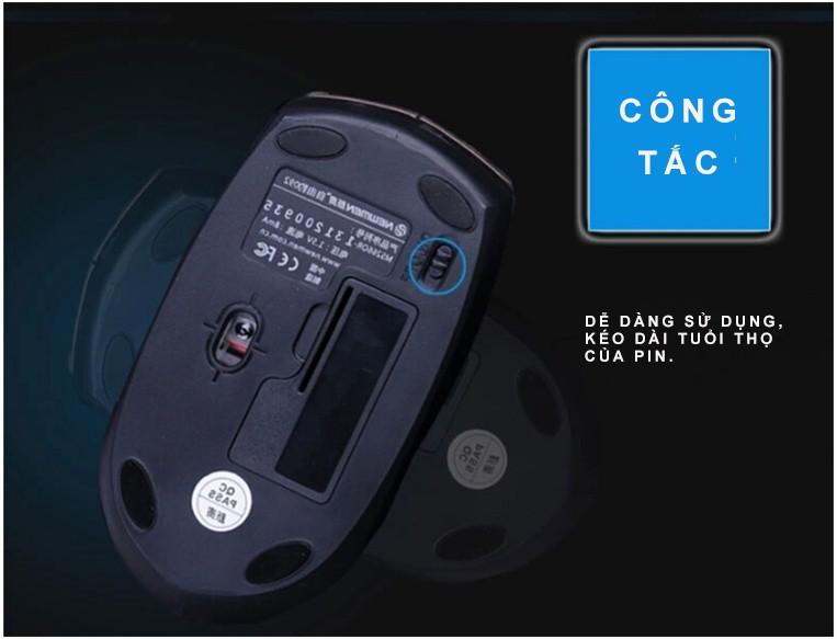 Newmen - Chuột quang không dây 2.4Ghz thế hệ 2 F266 27