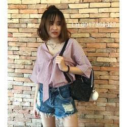 Áo sơ mi nữ công sở thời trang Hàn Quốc mới R16t218