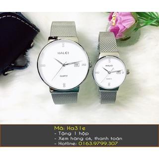 Đồng hồ đôi Halei dây lưới - 242 thumbnail