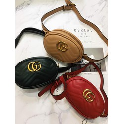 Túi đeo hông GG 18cm có thể đeo chéo