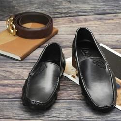 Giày Lười Phong Cách Trẻ SG196D màu Đen và Nâu