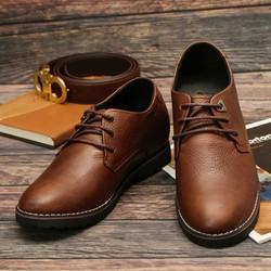 Giày Công Sở Phong Cách Trẻ SG086N màu Nâu và Đen