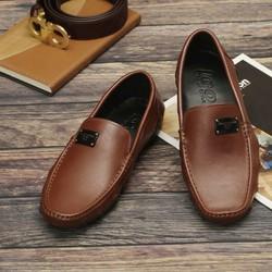 Giày Lười Phong Cách Trẻ SG197N màu Nâu và Đen