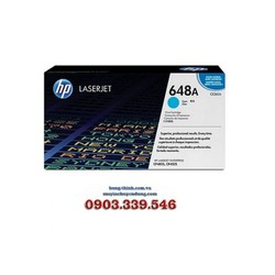 Mực In HP 648A - CE261A Cyan LaserJet Toner Cartridge