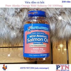 Viên dầu cá hồi Pure Alaska Omega Wild Salmon Oil 1000mg