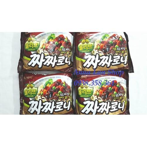 Combo 5 gói Mì trộn tương đen dầu Oliu - Hàn Quốc