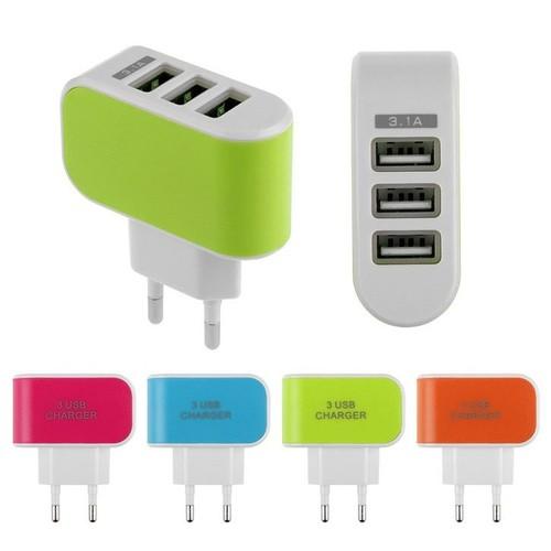 Cục sạc điện thoại 3 cổng USB 3.1A