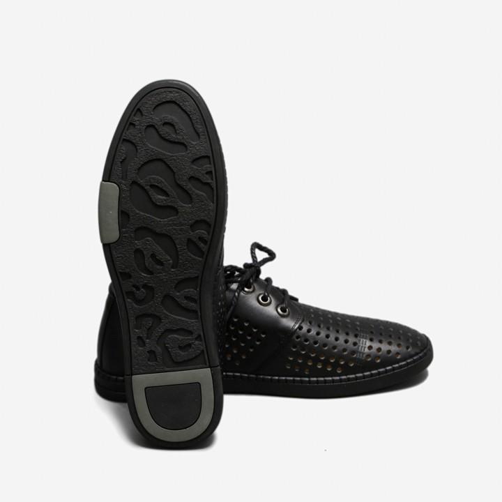 Giày Công Sở Lỗ Thoáng Da Bò SG090D màu Đen và Nâu 3