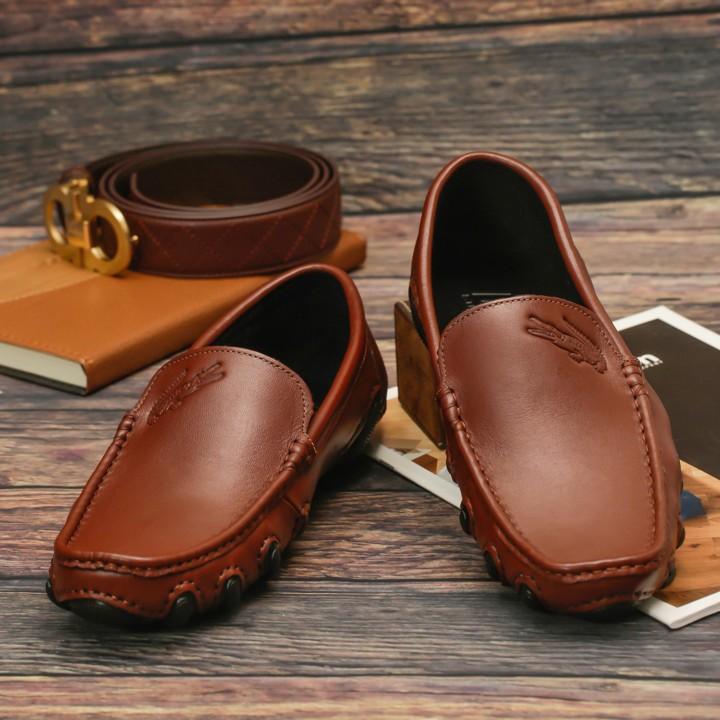 Giày Lười Công Sở Cao Cấp SG196N  màu Nâu và Đen 1