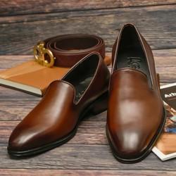 Giày Lười Công Sở Cao Cấp SG194 màu đen và nâu