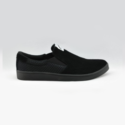 Giày đi bộ nam SLIP ON MAN LEATHER - BLACK BLACK