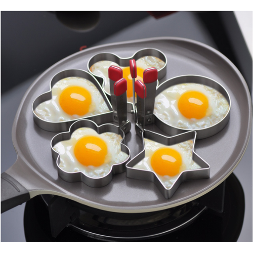 Khuôn chiên trứng hình bông inox 304 - Xesea - 9cm 255g