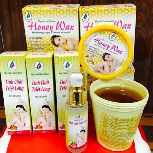 combo wax lông và tinh chất triệt lông honey