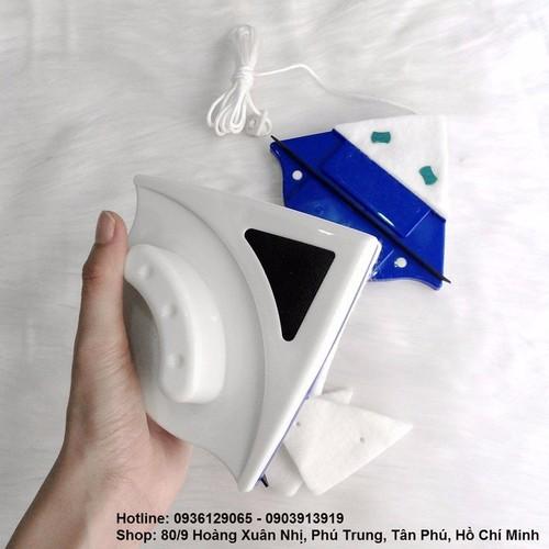Combo 2 dụng cụ lau cửa kính bằng nam châm