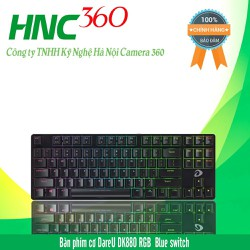 Bàn phím cơ Gaming DareU DK880 RGB 87KEY  Blue Brown Red D switch
