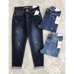 quần jeans baggy xước nhẹ