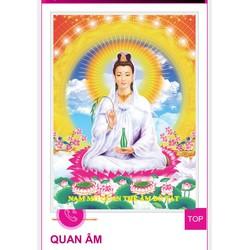 Tranh dính đá Phật Quan Âm